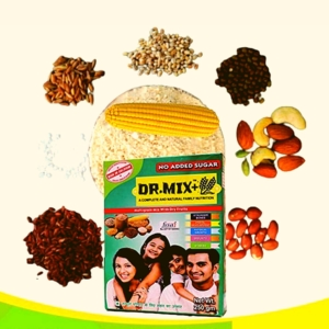 Dr. Mix Multigrain Mix with Dry Fruits | Natural and Complete Family Nutrition (SUGAR FREE)